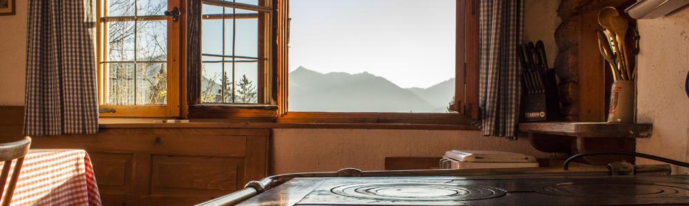 Küche in der Sonnenstatter Alm
